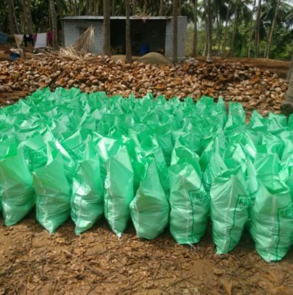 Semi Husked Coconut packing